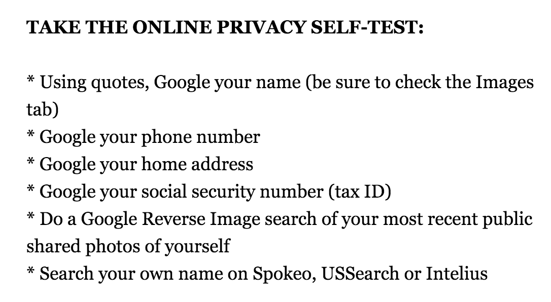 Online Privacy Test