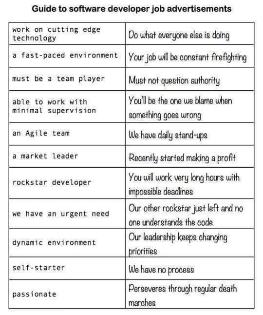 Guide to Software Dev Job Ads